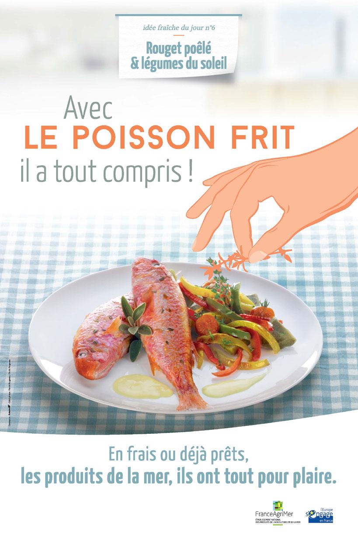 Affiche FranceAgriMer avec le poisson frit, il a tout compris !