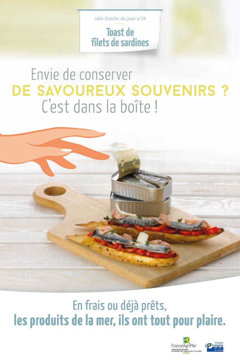 Affiche FranceAgriMer Envie de conserver de savoureux souvenirs ? C'est dans la boîte !